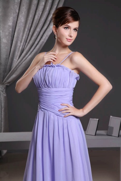 A Type Spaghetti Straps Chiffon Bridesmaid Dress with Fold_6