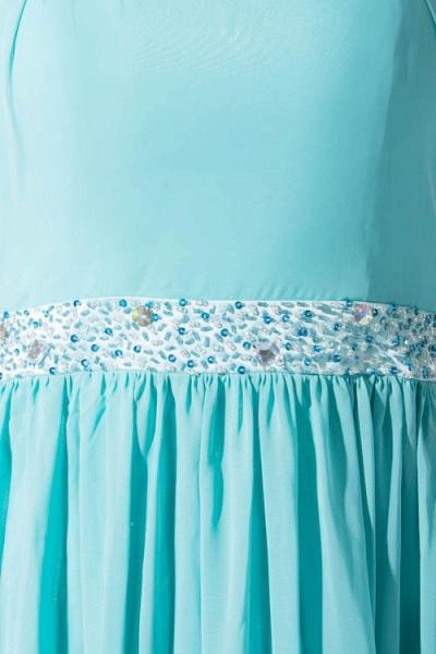 Latest Straps Chiffon A-line Bridesmaid Dress_9
