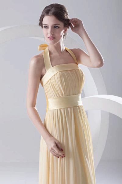 Fascinating Halter Chiffon A-line Bridesmaid Dress_6