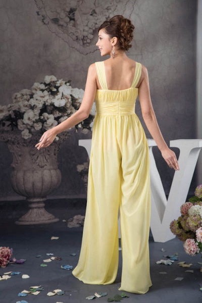 Eye-catching Straps Chiffon A-line Bridesmaid Dress_3