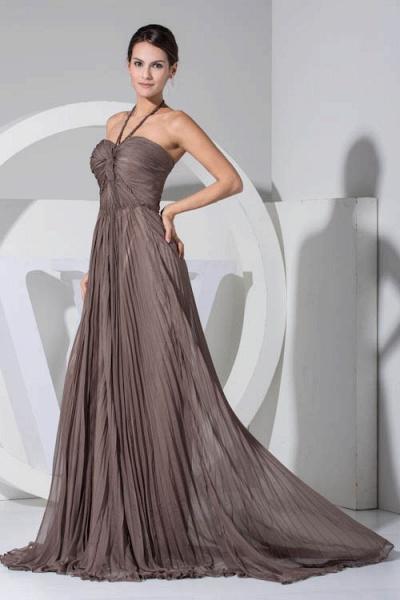 Excellent Halter Chiffon A-line Bridesmaid Dress_5