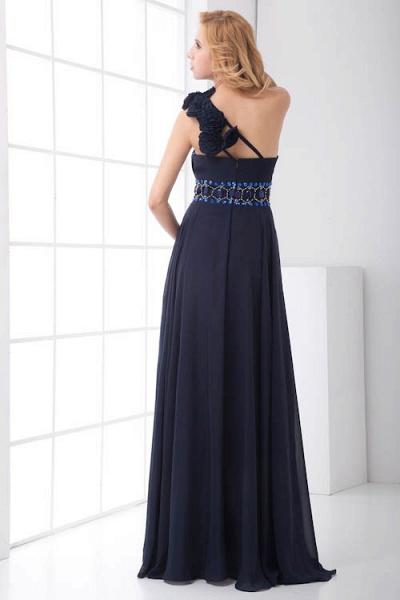 Fascinating One Shoulder Chiffon A-line Bridesmaid Dress_6