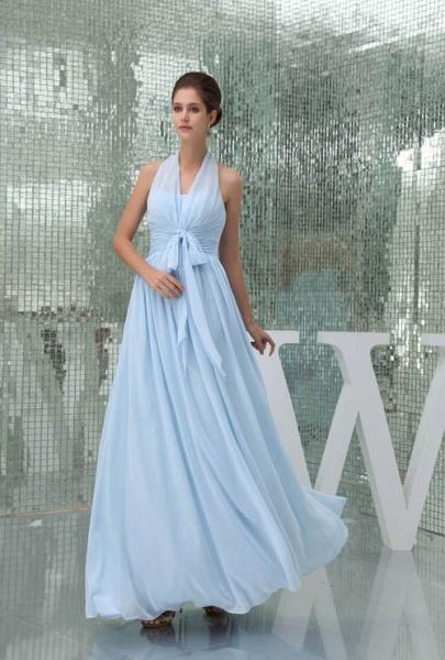 Precious Halter Chiffon A-line Bridesmaid Dress_6