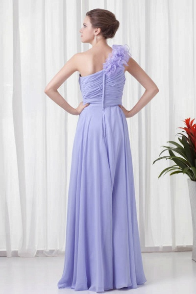 KYNLEM | A Type One Shoulder Chiffon Bridesmaid Dress with Flowers_3