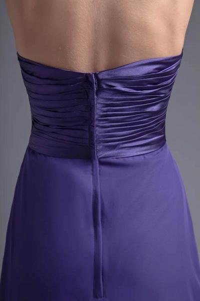 Sleek Halter Chiffon A-line Bridesmaid Dress_6