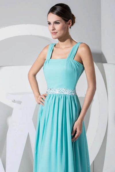 Latest Straps Chiffon A-line Bridesmaid Dress_6