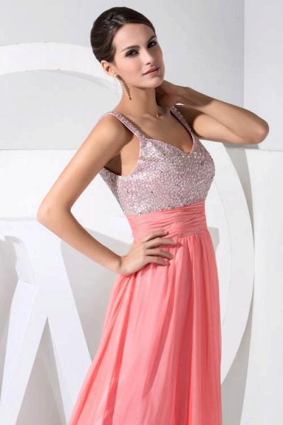 Attractive Straps Chiffon A-line Bridesmaid Dress_8
