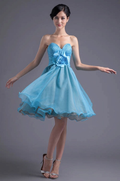 Best Strapless Chiffon A-line Bridesmaid Dress_1