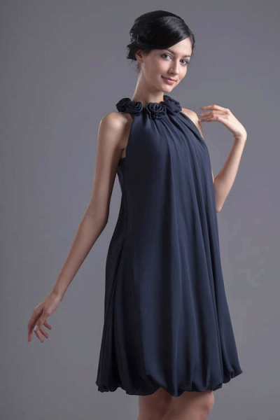 Affordable Jewel Chiffon A-line Bridesmaid Dress_4