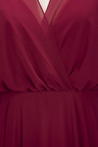 OLGA | A-line V-neck Floor Length Burgundy Chiffon Bridesmaid Dresses_8