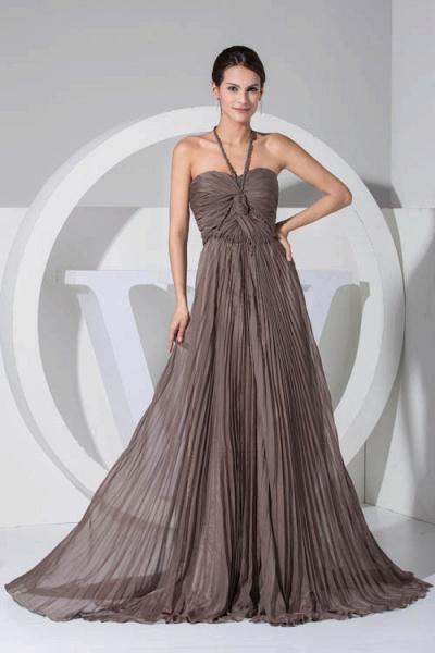 Excellent Halter Chiffon A-line Bridesmaid Dress_1