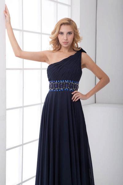 Fascinating One Shoulder Chiffon A-line Bridesmaid Dress_8