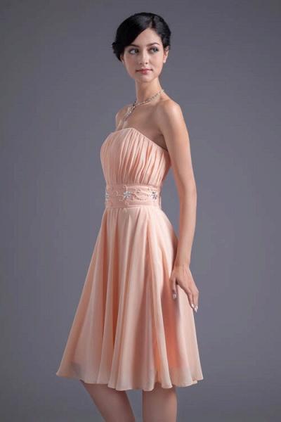Awesome Strapless Chiffon A-line Bridesmaid Dress_6