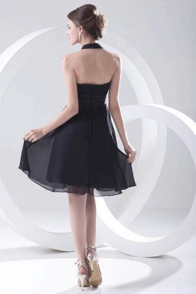 Elegant Halter Chiffon A-line Bridesmaid Dress_3