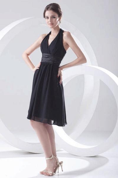 Elegant Halter Chiffon A-line Bridesmaid Dress_1