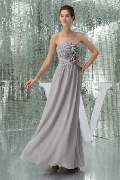 Awesome Strapless Chiffon A-line Bridesmaid Dress_7