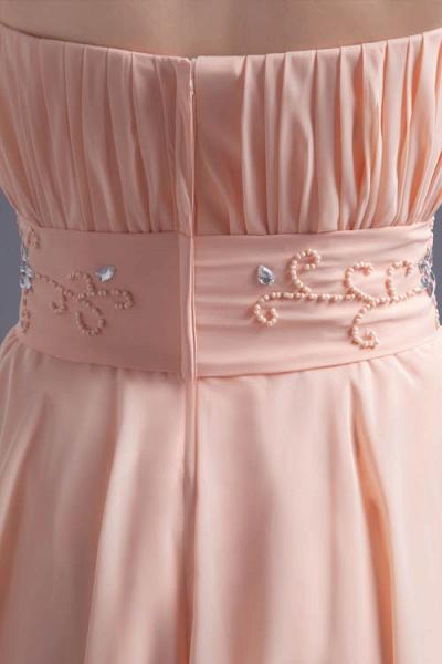 Awesome Strapless Chiffon A-line Bridesmaid Dress_9