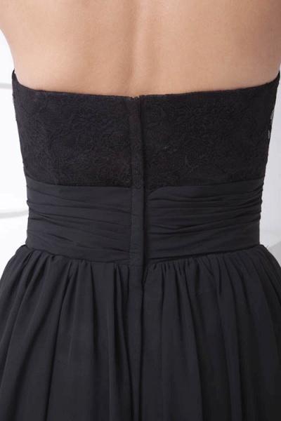LEANNA | A Type Halter Long Sleeveless Chiffon Black Bridesmaid Dress with Lace_9
