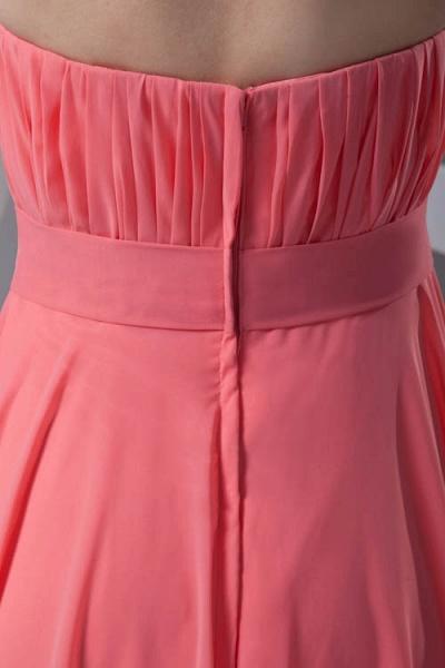 LILIAN | A-line Strapless Sleeveless Floor Length Chiffon Bridesmaid Dresses_8