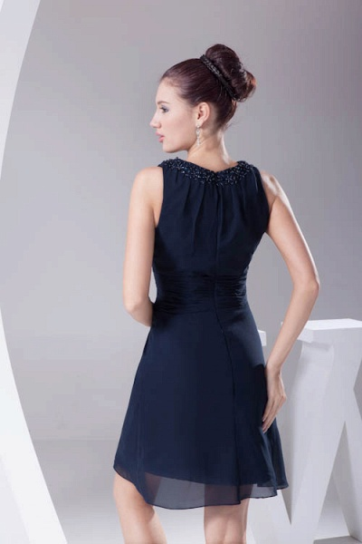 Graceful Jewel Chiffon A-line Bridesmaid Dress_5