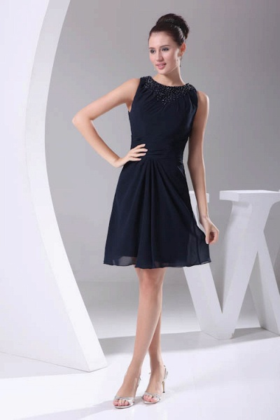 Graceful Jewel Chiffon A-line Bridesmaid Dress_4