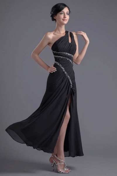 Fascinating One Shoulder Chiffon A-line Bridesmaid Dress_4