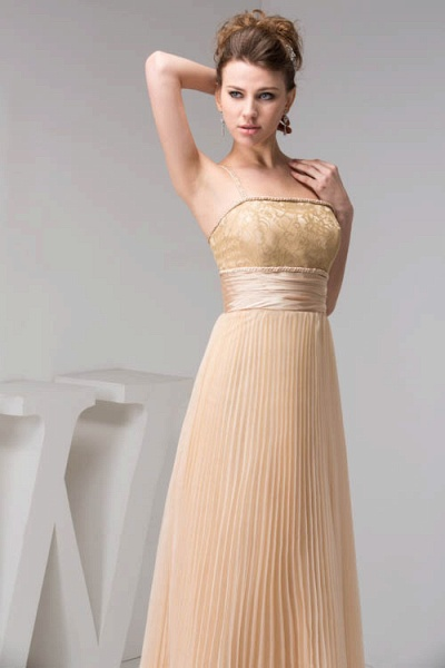 Graceful Spaghetti Straps Chiffon Princess Evening Dress_4