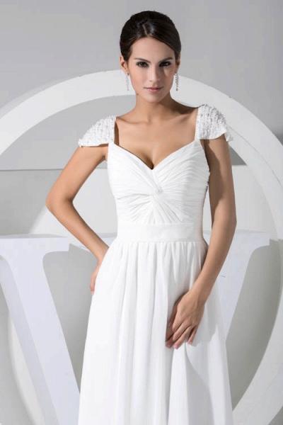Attractive V-neck Chiffon A-line Bridesmaid Dress_4