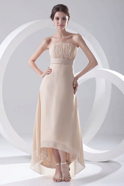 LILIA | A-line High-Low Sleeveless Chiffon Bridesmaid Dresses_1