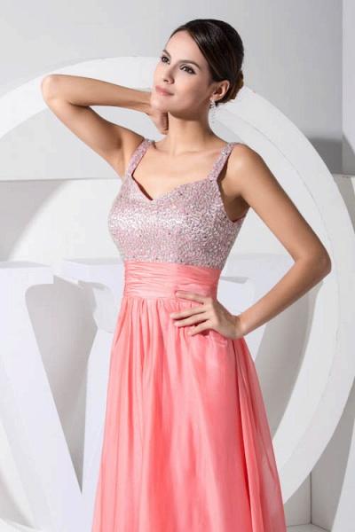 Attractive Straps Chiffon A-line Bridesmaid Dress_6