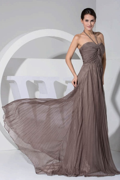 Excellent Halter Chiffon A-line Bridesmaid Dress_8