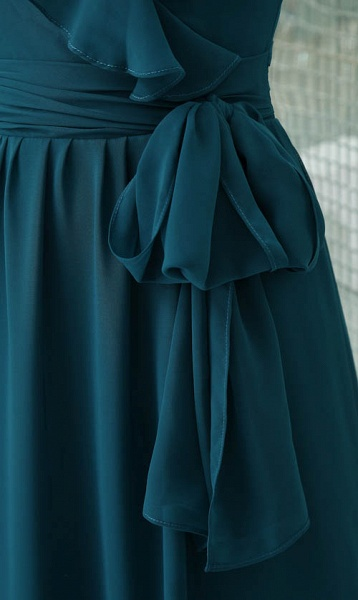 Affordable V-neck Chiffon A-line Bridesmaid Dress_8