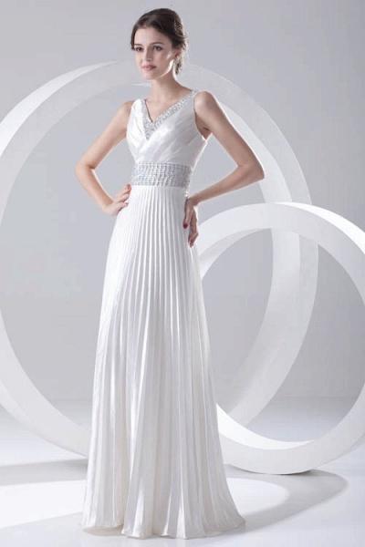Beautiful V-neck Chiffon A-line Bridesmaid Dress_1