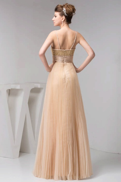 Graceful Spaghetti Straps Chiffon Princess Evening Dress_7