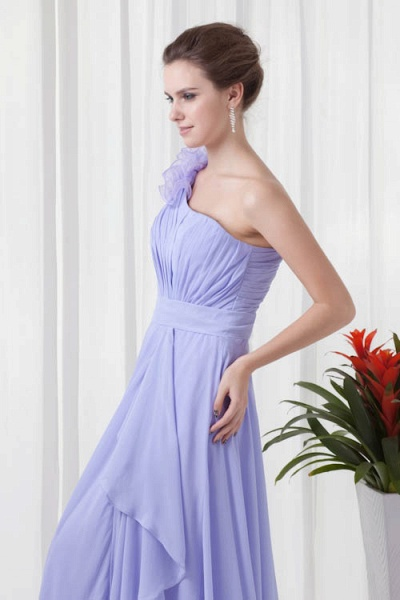 KYNLEM | A Type One Shoulder Chiffon Bridesmaid Dress with Flowers_6