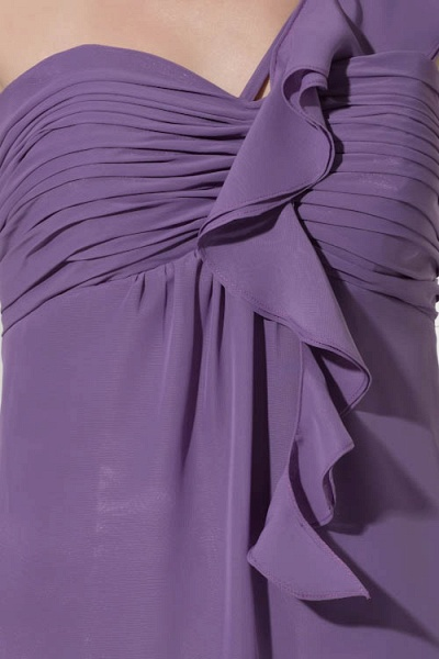 Exquisite One Shoulder Chiffon A-line Bridesmaid Dress_6