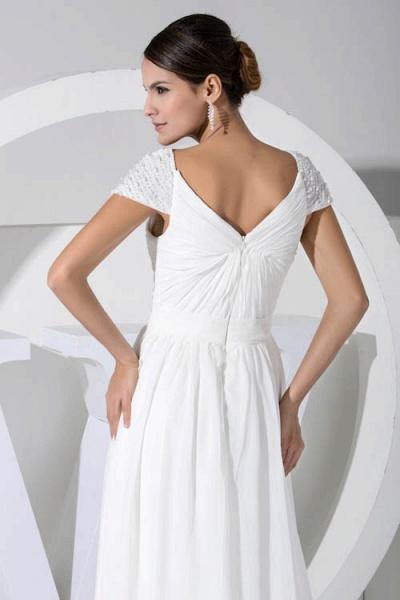 Attractive V-neck Chiffon A-line Bridesmaid Dress_8