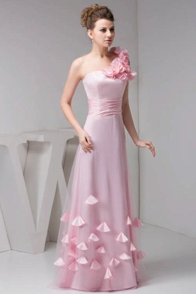 Amazing One Shoulder Chiffon Column Evening Dress_4