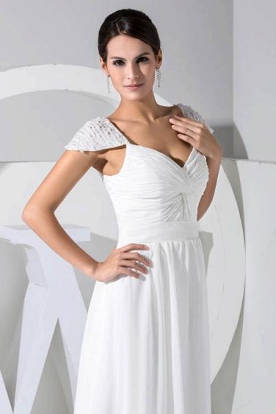 Attractive V-neck Chiffon A-line Bridesmaid Dress_6