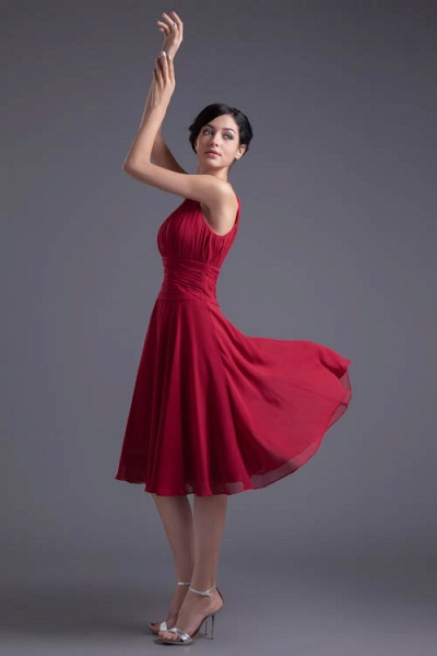 KYLIE | A Type Wide Shoulder Straps Chiffon Bridesmaid Dress with Zip?_5