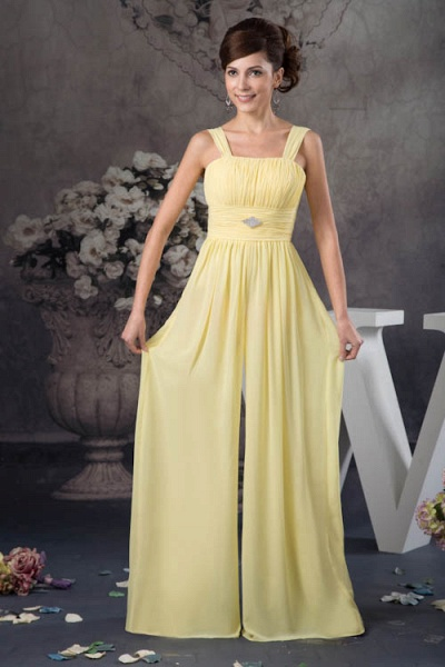Eye-catching Straps Chiffon A-line Bridesmaid Dress_1