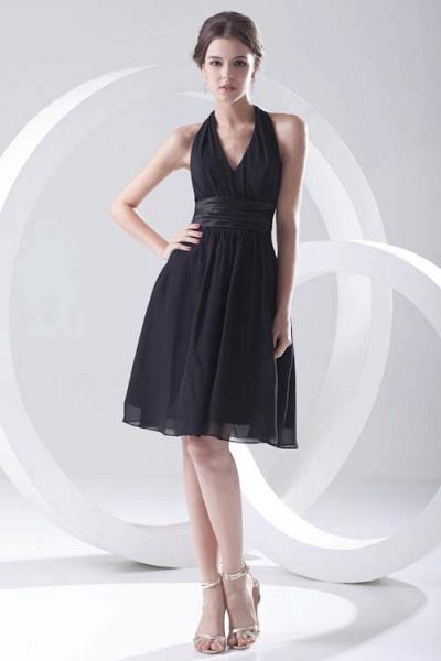Elegant Halter Chiffon A-line Bridesmaid Dress_8