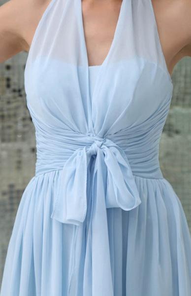 Precious Halter Chiffon A-line Bridesmaid Dress_8