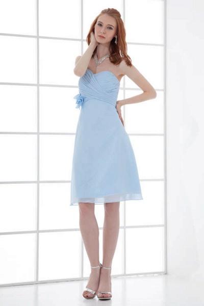 Sleek Strapless Chiffon A-line Bridesmaid Dress_6