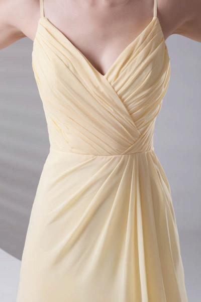 LILIANNA | A-line Spaghetti-Straps Floor Length Chiffon Bridesmaid Dresses_7