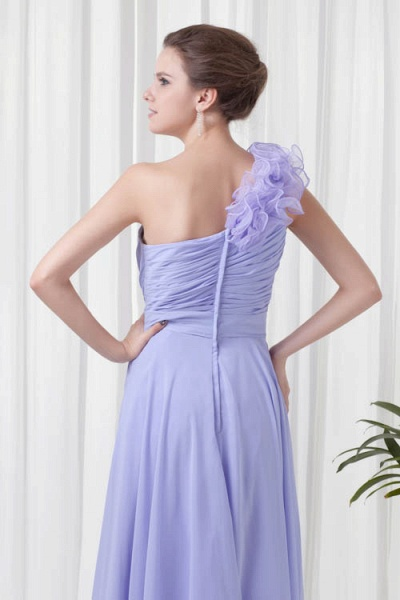 KYNLEM | A Type One Shoulder Chiffon Bridesmaid Dress with Flowers_8