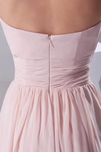 Amazing Strapless Chiffon A-line Bridesmaid Dress_9