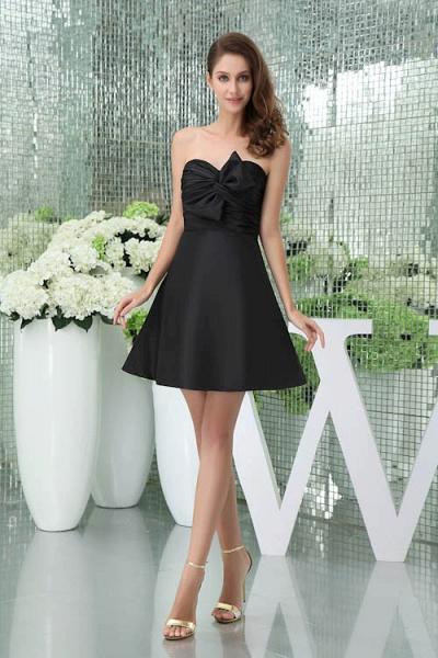 Sleek Sweetheart Satin A-line Bridesmaid Dress_1