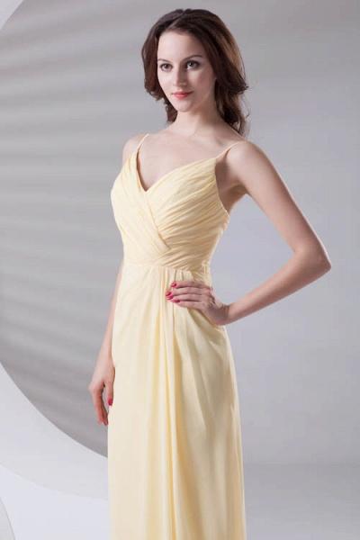 LILIANNA | A-line Spaghetti-Straps Floor Length Chiffon Bridesmaid Dresses_4