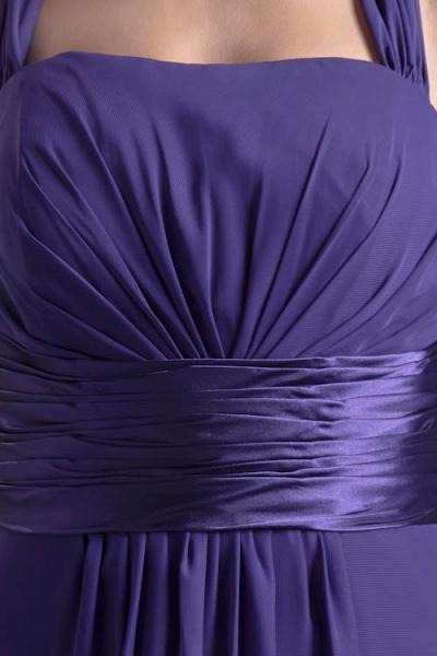 Sleek Halter Chiffon A-line Bridesmaid Dress_5